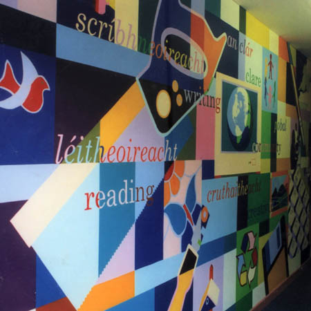 Andrew newland illustration design signs murals for Educational mural