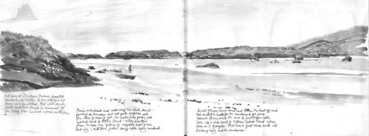 Derrynane Bay, Co. Kerry, Ireland (from a sketchbook)